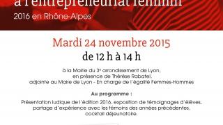 Invitation le 24 Novembre à midi au lancement de la SEMAINE POUR L'ENTREPREUNARIAT AU FEMININ