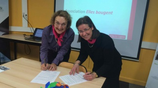 Signature d'une convention WIN Women in Nuclear - Elles bougent.