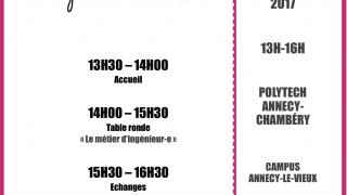 Rencontre ingénieur-es au féminin, Annecy, 16 février.