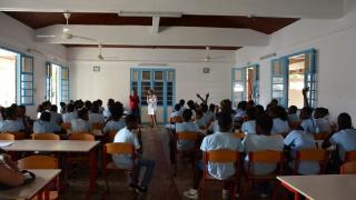 Intervention dans un collège de Marie-Galante