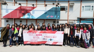 Visite du pont Hong-Kong Zuhai-Macao pour le Girls on the Move day en 2017