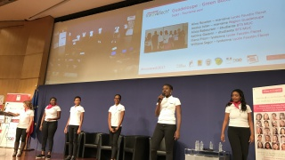 Equipe Guadeloupe, finale du challenge innovatech 2017 à Bercy