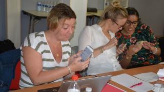 Les déléguées régionales ont créé un compte Twitter au séminaire Elles Bougent