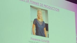 Florence Olivier, marraine Airbus, lauréate du Trophée des femmes de production