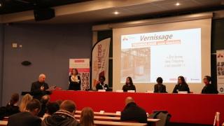 Arts et Métiers ParisTech Angers : vernissage de l'exposition Technologie, nom féminin soutenue par Elles bougent