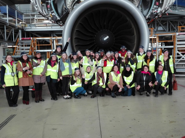 Girls on the Move Week 2018 : visite Air France hangar Roissy A380