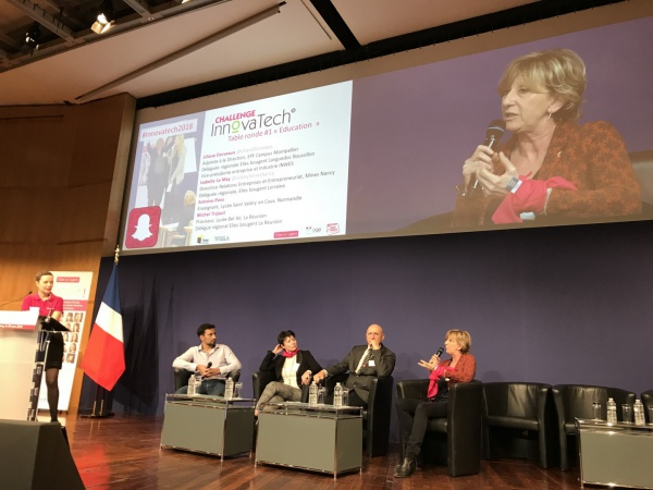 Table ronde Education pendant la finale du challenge InnovaTech 2018 avec Elles Bougent