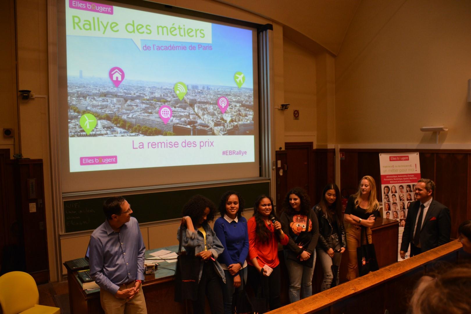 Rallye des métiers 2018 de l'Académie de Paris: Témoignage d'une lycéenne Elles Bougent