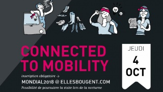 ELLES BOUGENT CONNECTED TO MOBILITY au Mondial de l'Auto