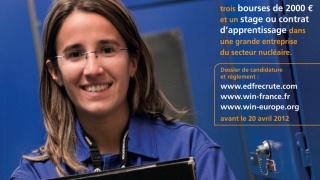 Prix Fem'Energia 2012 - Lancez votre carrière dans le nucléaire !