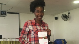 Portrait d'Esther, en stage au sein de la délégation Guadeloupe