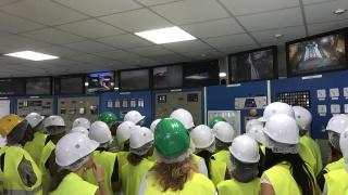 Visite de centrale thermique EDF de Dégrad des Cannes, en Guyane