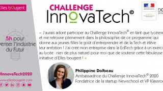 Philippine Dolbeau, Ambassadrice du Challenge InnovaTech 2020