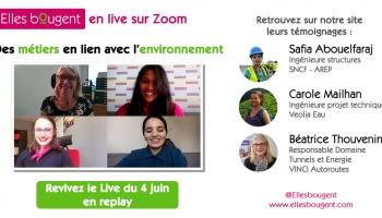 Elles bougent en Live : webinar pour profiter des témoignages de marraines et relais