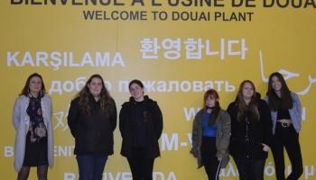Visite du site Renault à Douai par 6 lycéennes