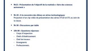« Faire des Sciences Autrement » : valorisation des filières STI 2D et STL par le rectorat de Paris
