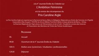 Journée Emilie du Châtelet