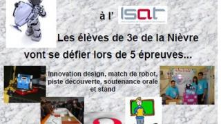 L'ISAT de Nevers abritera la finale du défi robot NXT 2013 le  jeudi 23 mai