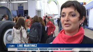 Reportages sur la journée Elles bougent au Salon du Bourget 2013