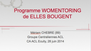 Rencontre WOMENTORING, Centrale Lyon, 27 Juin 2014