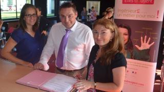 Partenariat Elles bougent avec Normandie AéroEspace