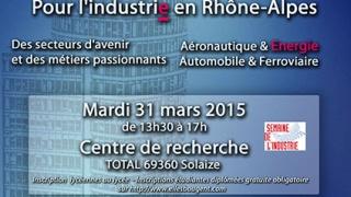 Semaine de l'industrie: Visite du centre de recherche TOTAL de Solaize, au sud de Lyon, 16h.