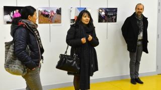 Vernissage exposition photo sur la mixité des métiers au collège Paul Fort de Reims avec