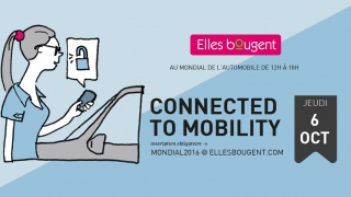 Elles bougent, Connected to Mobility au Mondial de l'Automobile !