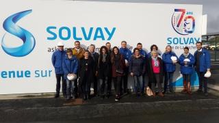 Visite chez SOLVAY pour les jeunes lycéénes de La Rochelle