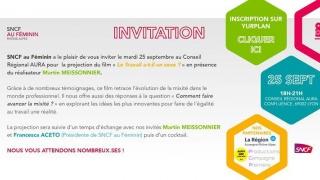 Invitation SNCF au féminin au CONSEIL REGIONAL AURA