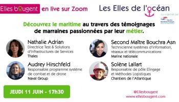 Elles bougent en Live : les métiers du maritime - jeudi 11 juin 17h30