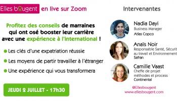 Elles bougent en Live : carrières internationales - jeudi 2 juillet 17h30
