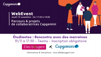 Etudiantes : rencontrez les marraines de Capgemini en virtuel !