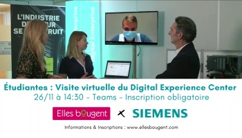 Etudiantes : participez à la visite virtuelle du Digital Experience Center de Siemens !