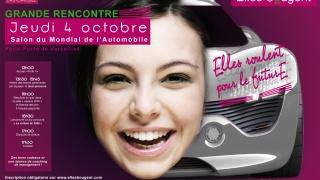 Rencontre « Elles roulent pour le futurE » au Mondial de l'Automobile 2012