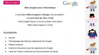 Elles bougent pour l'informatique chez Google Paris !